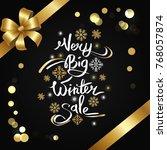 very big winter sale... | Shutterstock .eps vector #768057874