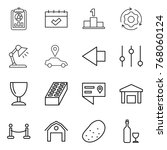 thin line icon set   report ... | Shutterstock .eps vector #768060124