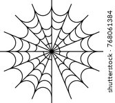 spider web icon design vector... | Shutterstock .eps vector #768061384