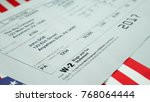 w2 tax form copy b 2017 for man ... | Shutterstock . vector #768064444