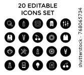 closeup icons. set of 20... | Shutterstock .eps vector #768065734