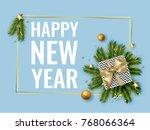 merry christmas background...   Shutterstock .eps vector #768066364