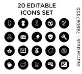 badge icons. set of 20 editable ... | Shutterstock .eps vector #768067150