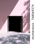 dark and empty doorway with...   Shutterstock . vector #768069274