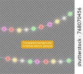 garlands  christmas decorations ... | Shutterstock .eps vector #768070456