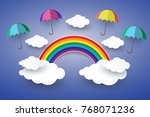the concept is happy day  full...   Shutterstock .eps vector #768071236