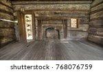 Pioneer Log Cabin Interior....