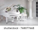 Grand Piano In A Luxury White...