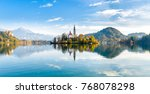 lake bled slovenia. beautiful... | Shutterstock . vector #768078298