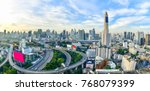 bangkok city panorama and... | Shutterstock . vector #768079399