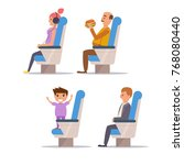 people the plane.  vector.... | Shutterstock .eps vector #768080440