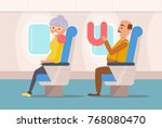 people the plane.  vector.... | Shutterstock .eps vector #768080470