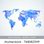 polygonal world map for... | Shutterstock .eps vector #768082549