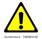 warning sign vector with a... | Shutterstock .eps vector #768083140