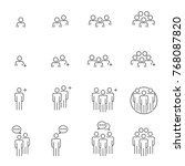 people icons line work group... | Shutterstock .eps vector #768087820