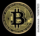 crypto currency bitcoin vector...   Shutterstock .eps vector #768087823