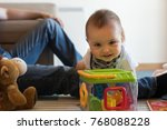 modern father playing with... | Shutterstock . vector #768088228