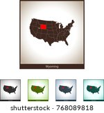 map of wyoming | Shutterstock .eps vector #768089818