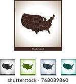 map of rhode island | Shutterstock .eps vector #768089860