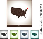 map of maine | Shutterstock .eps vector #768089914