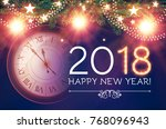 happy new 2018 year background... | Shutterstock .eps vector #768096943