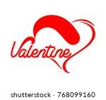 love valentine day text symbol. ... | Shutterstock .eps vector #768099160
