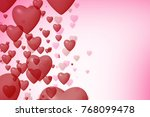 valentine day holiday background | Shutterstock . vector #768099478