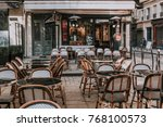 typical view of the parisian... | Shutterstock . vector #768100573