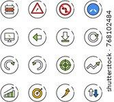 line vector icon set   sign... | Shutterstock .eps vector #768102484