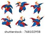 vector set of cartoon images of ...   Shutterstock .eps vector #768102958