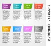 set of color business arrow... | Shutterstock .eps vector #768103348