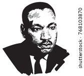 martin luther king. black and... | Shutterstock . vector #768103870