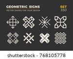 set of eight minimalistic... | Shutterstock .eps vector #768105778