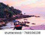 beautiful sunset in... | Shutterstock . vector #768106138