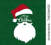 santa claus hat and beard | Shutterstock .eps vector #768106420