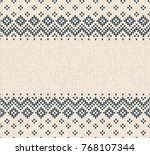 winter christmas x mas knitted... | Shutterstock .eps vector #768107344