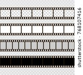 film strip set. collection of... | Shutterstock .eps vector #768107416