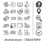 money line icons. set of credit ... | Shutterstock .eps vector #768107890