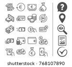 money line icons. set of credit ... | Shutterstock .eps vector #768107890