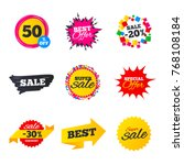 sale banners templates. best... | Shutterstock .eps vector #768108184