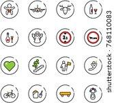 line vector icon set   baby... | Shutterstock .eps vector #768110083