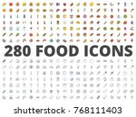 food line and colored icon pack | Shutterstock .eps vector #768111403