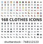 clothes icon pack colored and... | Shutterstock .eps vector #768112123