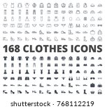clothes icon pack line and... | Shutterstock .eps vector #768112219
