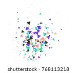broken glass or ice explosion... | Shutterstock .eps vector #768113218