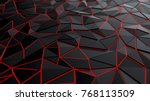 polygonal black low poly... | Shutterstock . vector #768113509