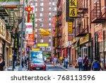 new york  usa   oct 5  2017 ... | Shutterstock . vector #768113596