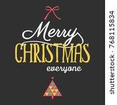 merry christmas background | Shutterstock .eps vector #768115834