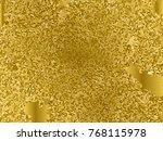 gold sequins texture. abstract...   Shutterstock .eps vector #768115978