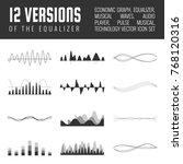 vector sound waves set. audio... | Shutterstock .eps vector #768120316